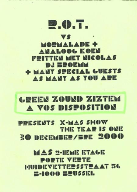 XXX-MAS Tanneurs 30-12-2000